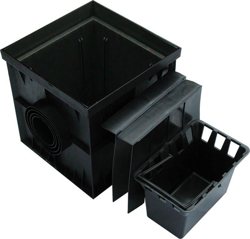 Дождеприемник ДП 30.30 пластиковый в сборе с корзинкой и перегородками