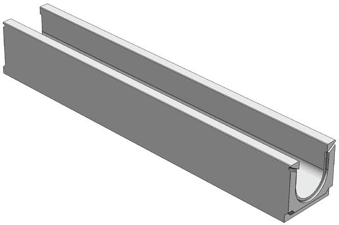 Лоток бетонный Standart 100 (высота 125 мм)