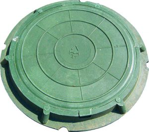 Полимеркомпозитный канализационный люк тип Л - легкий (до3т.)