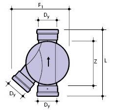 Днище дренажного колодца. Тип 4 — соединительное (левый приток)