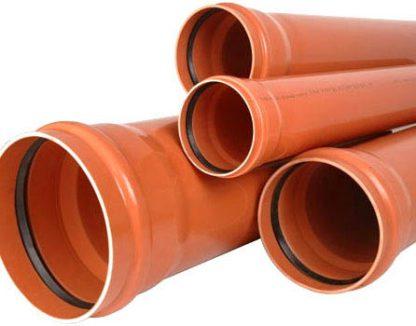 Канализационные трубы наружной канализации с манжетой